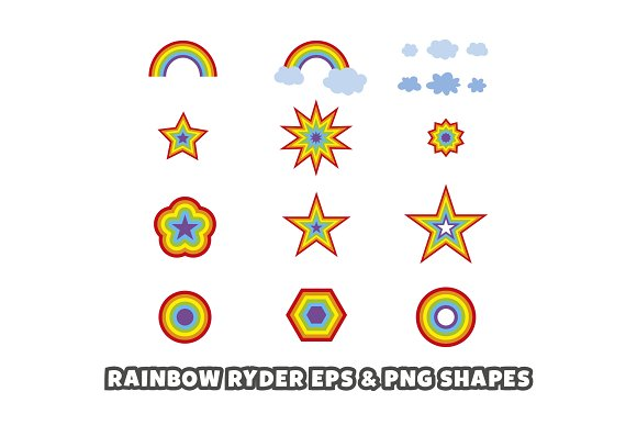 Rainbow Ryder EPS & PNG Font in Display Fonts - product preview 5