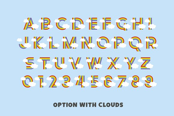 Rainbow Ryder EPS & PNG Font in Display Fonts - product preview 11