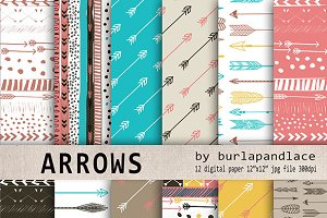 Aztec arrows digital paper