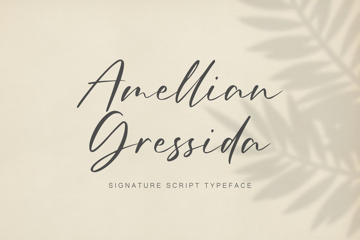 Amellian Gressida in Display Fonts - product preview 8