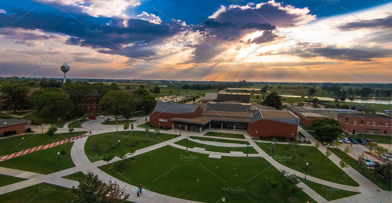 Sunrise Over Graceland University ~ Photos ~ Creative Market