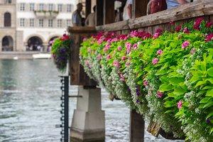Kapellbrucke in Lucerne city
