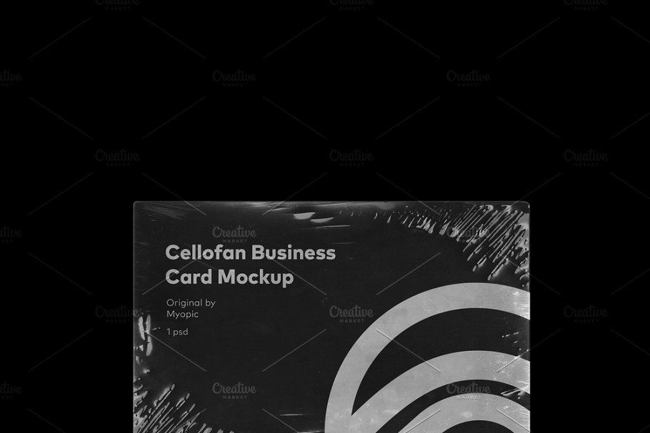 Business Card Plastic Wrap Mockup