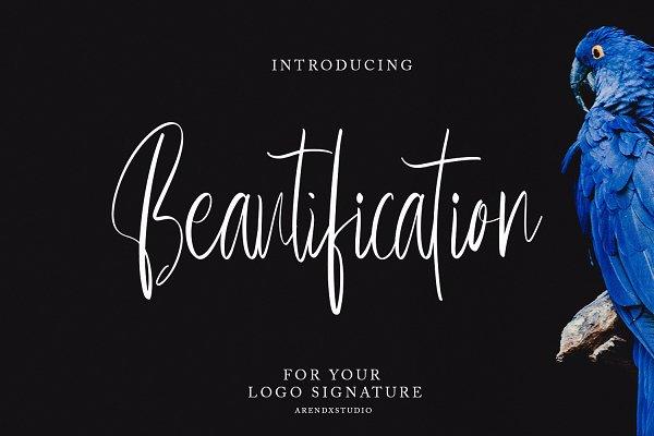 Beautification - Signature Font