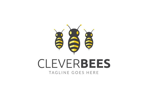 Bees Logo Template