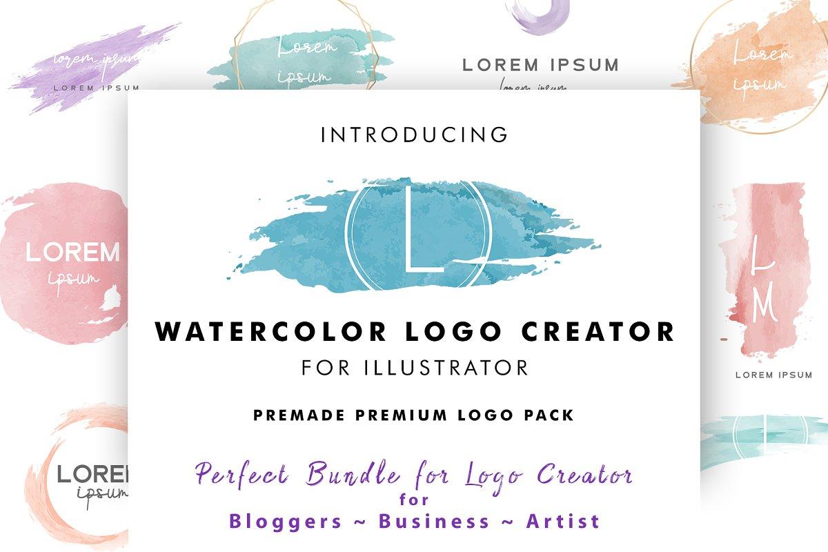 Watercolor Logo Creator Pack