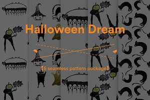 Halloween Dream(5 seamless patterns)