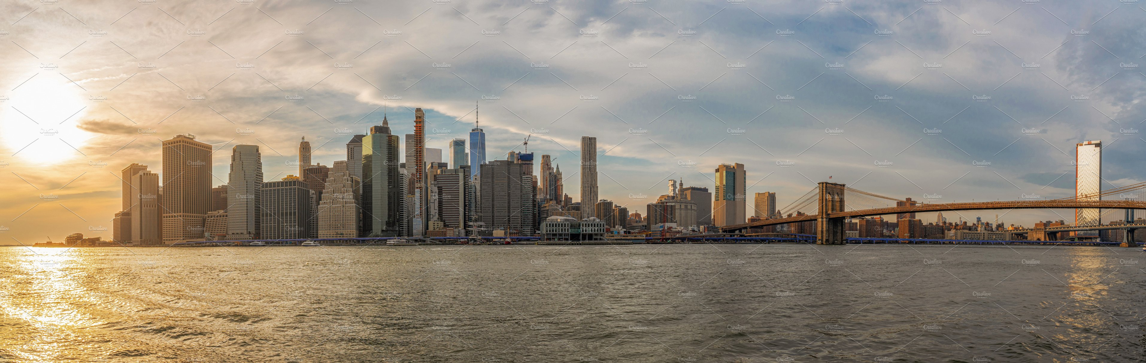 Banner And Panorama Of New York City High Quality Architecture Stock Photos Creative Market