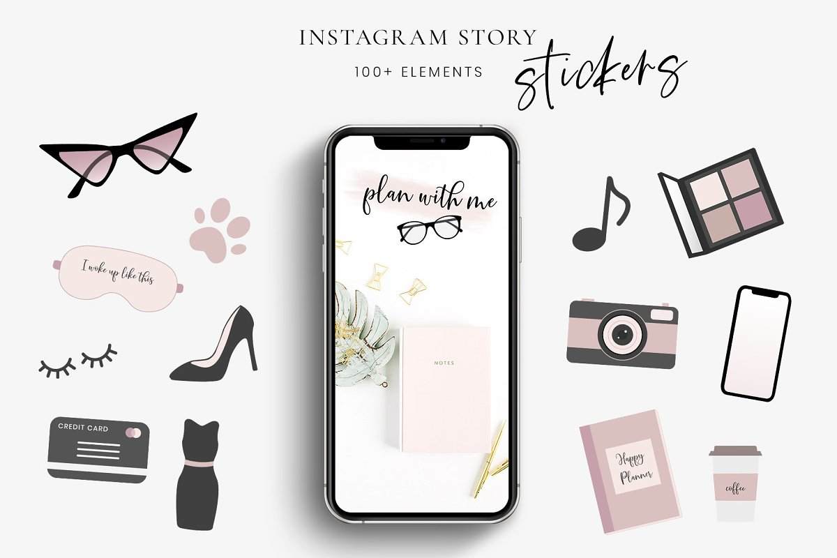 Instagram story sticker pack