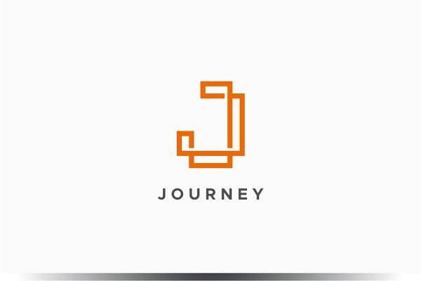 Monogram J Logo Creative Illustrator Templates Creative Market