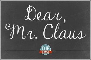 DJB Dear Mr. Claus Font