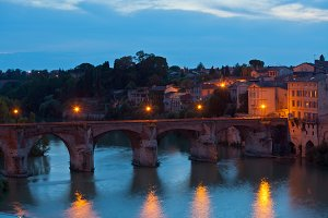 Albi, France at night