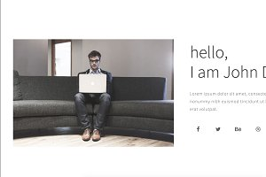Peto - Onepage Personal template