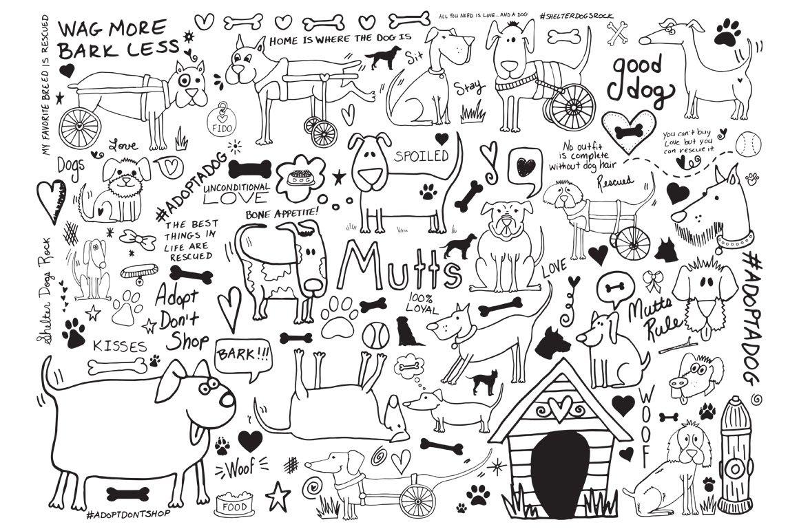 Doodle Dogs ~ Illustrations ~ Creative Market