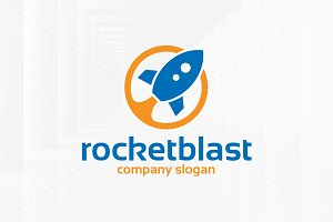 Rocket Blast Logo Template