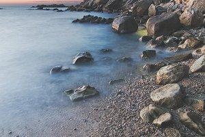 Moody sunset at beach