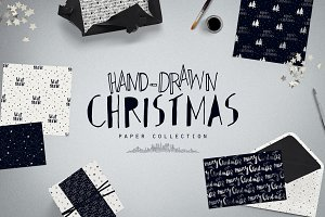 Hand-Drawn Christmas Digital Papers