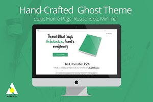 Hand-Crafted Ghost Theme for Authors