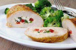 Chicken breast stuffed