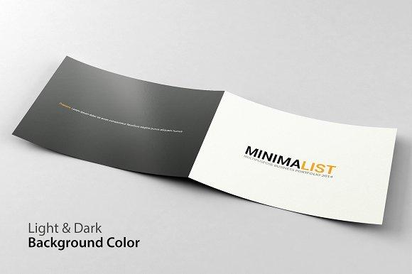 Minimalist Portfolio Brochu-Graphicriver中文最全的素材分享平台