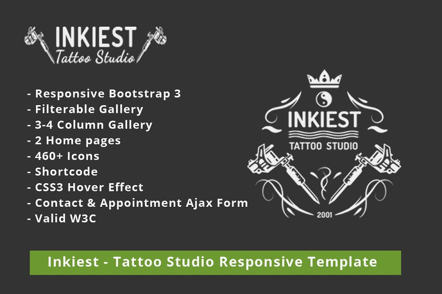 Inkiest - Tattoo Studio Template