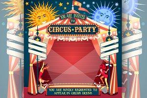 Circus Invitation Vintage