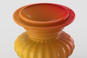 Laquered decorative vase