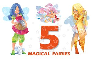 Five magical fairies