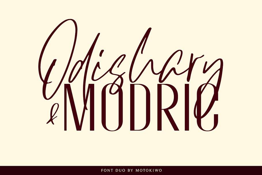 Odishary & Modric Font Duo