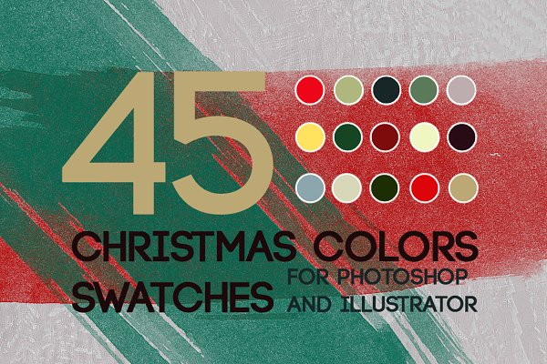 Christmas Colors Palette.Christmas Colors Illustrator Add Ons Creative Market