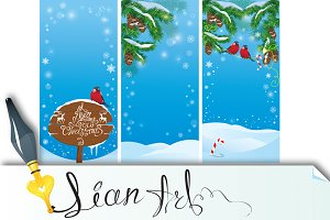Set of vertical xmas banners.