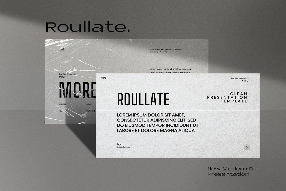 Roullate New Modern Era Powerpoint Powerpoint Templates