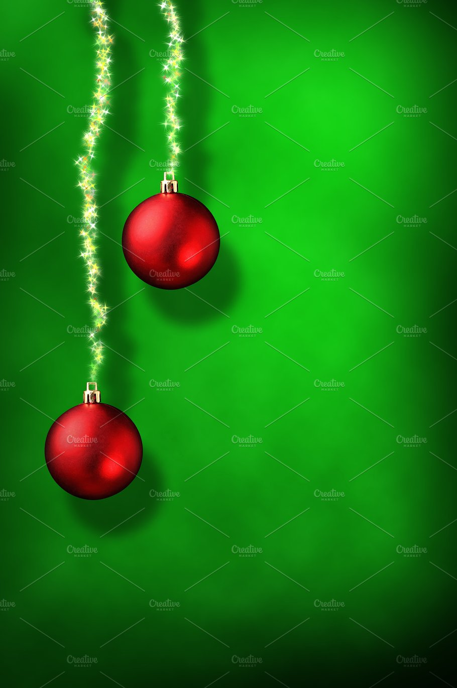 Xmas Green Background Vertical