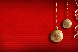 Xmas red  textured horizontal