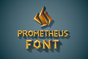 3D Font Set. Gold, wood, silver