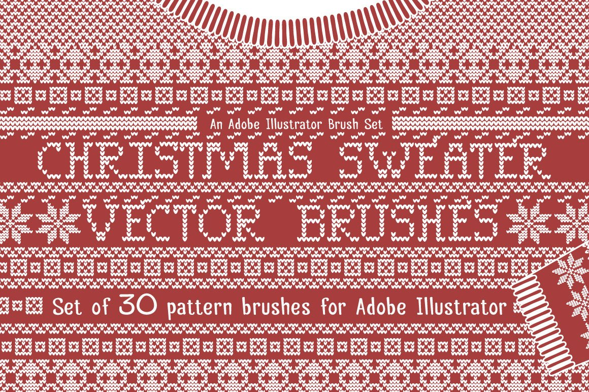 christmas sweater knit brushes brushes creative market