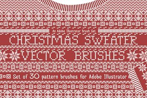 Christmas Sweater Knit Brushes