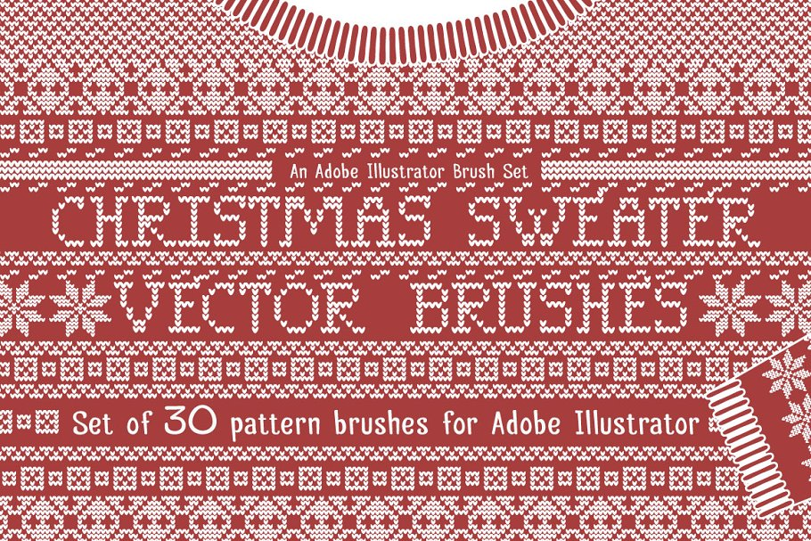 0bb406f03 Christmas Sweater Knit Brushes ~ Brushes ~ Creative Market