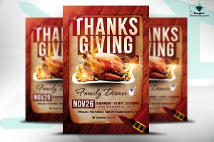 Thanksgiving Night PSD Flyer