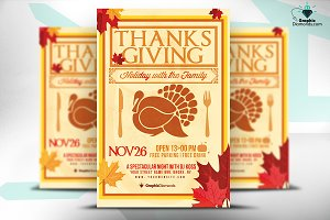 Thanksgiving Holiday PSD Flyer