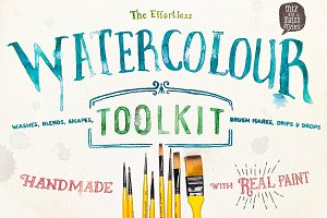 Watercolour toolkit paint effects
