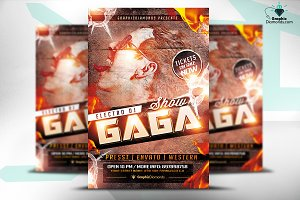 Electro Dj Music Flyer PSD