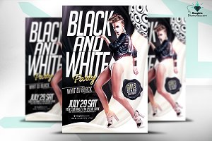 Black And White PSD Flyer