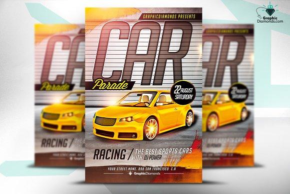 car parade flyer psd flyer templates creative market