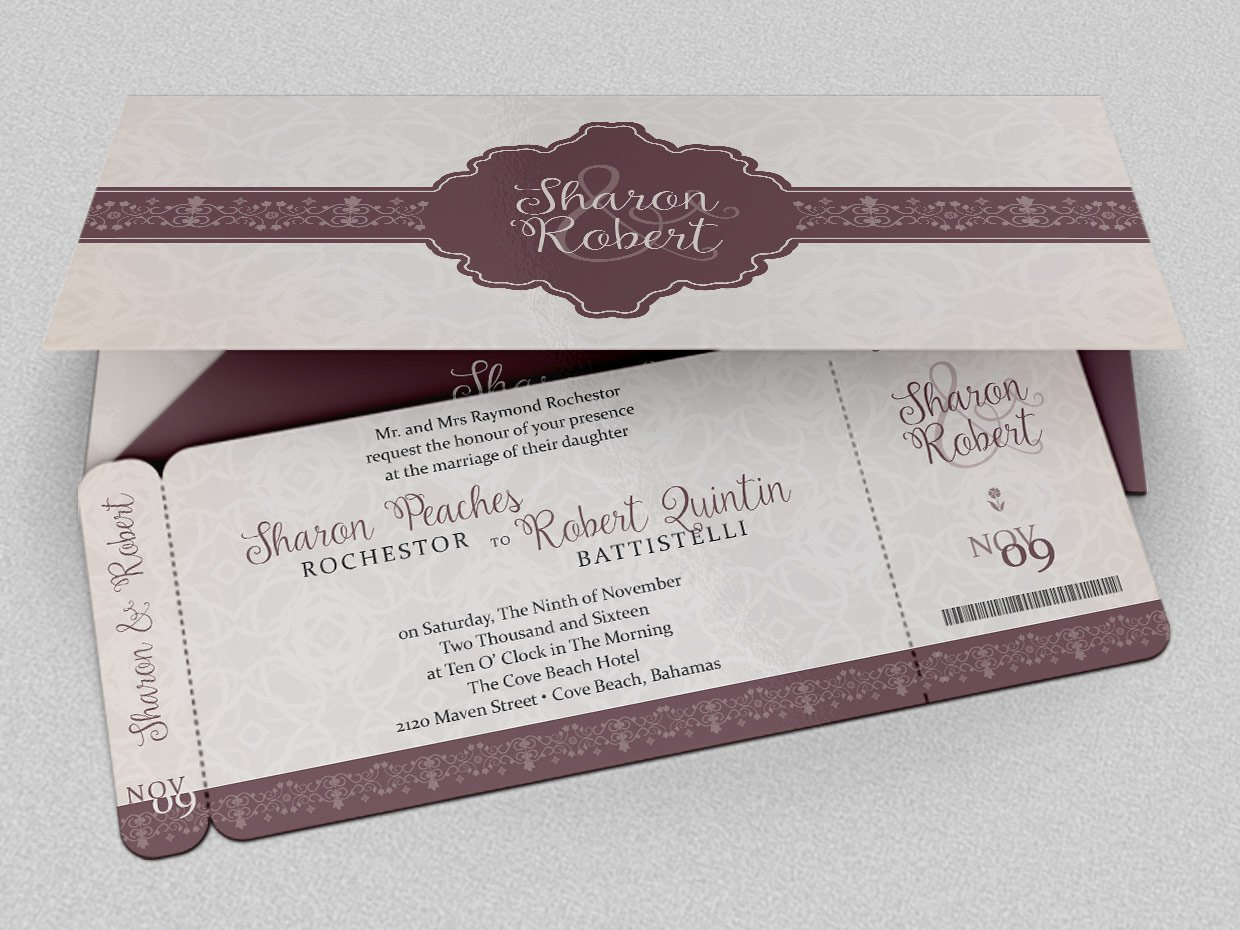 Wedding Boarding Pass Invitation ~ Invitation Templates ~ Creative ...