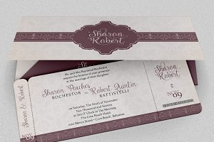Wedding Boarding Pass Invitation