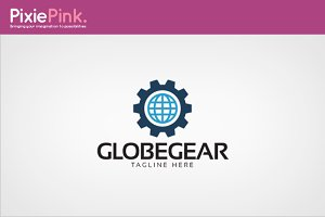 Globe Gear Logo Template