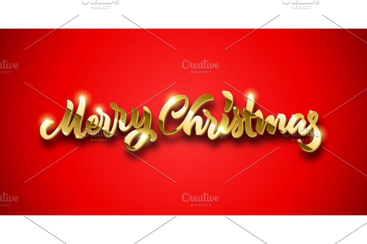 Merry Christmas Calligraphic Hand