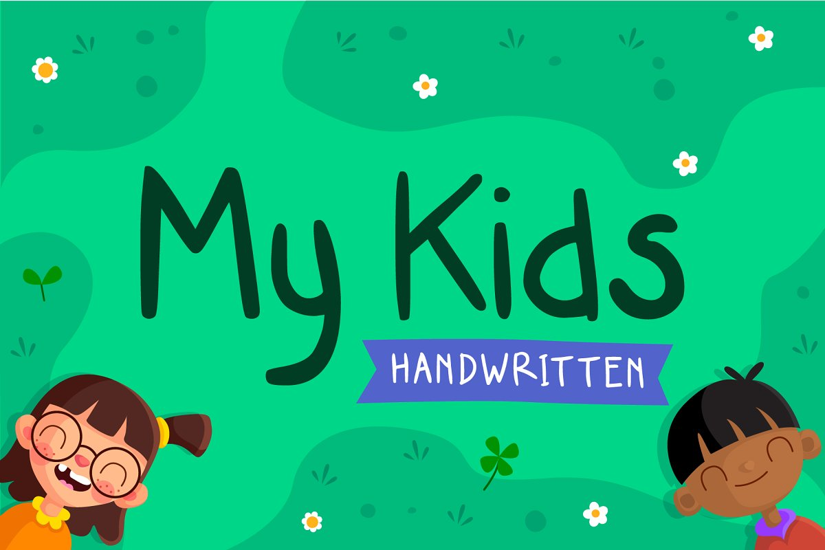 My Kids Handwritten - Font in Display Fonts - product preview 8