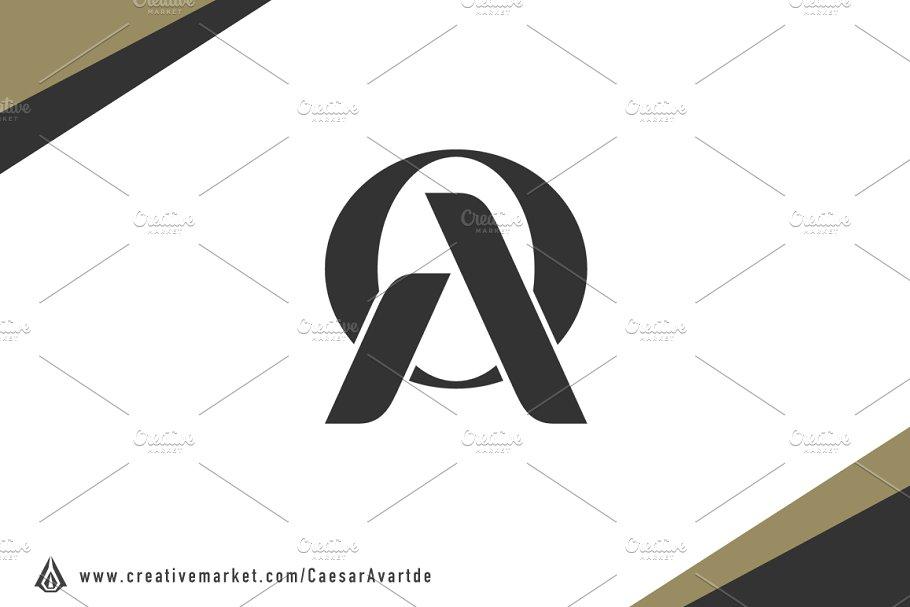 Initial A & O Logo Template